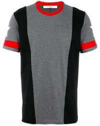 Camiseta con cuello circular de estrellas gris de Givenchy