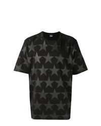 8528559720c93 Comprar una camiseta con cuello circular de estrellas negra  elegir ...