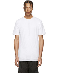 Camiseta con cuello circular de malla blanca