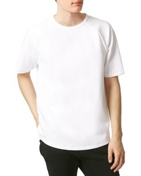 Camiseta con cuello circular de punto blanca