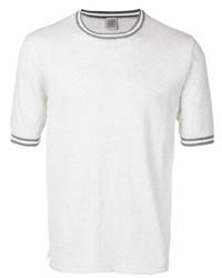Camiseta con cuello circular de punto gris de Eleventy