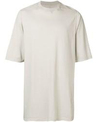 Camiseta con cuello circular de punto gris de Rick Owens DRKSHDW