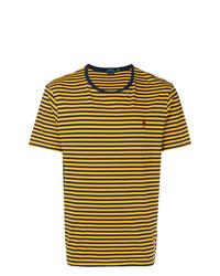 ef64ee00ed8a2 ... Camiseta con cuello circular de rayas horizontales amarilla de Polo  Ralph Lauren