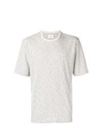 Camiseta con cuello circular de rayas horizontales en beige de Folk