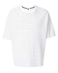 Camiseta con cuello circular de rayas horizontales en blanco y negro de Bassike