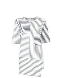 Camiseta con cuello circular de rayas horizontales en blanco y negro de Forme D'expression