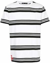 Camiseta con cuello circular de rayas horizontales en blanco y negro de The Upside