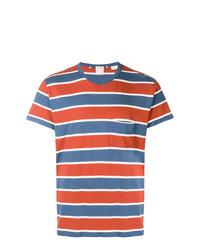 Camiseta con cuello circular de rayas horizontales en blanco y rojo y azul marino de Levi's Vintage Clothing
