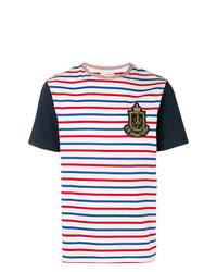 Camiseta con cuello circular de rayas horizontales en multicolor de JW Anderson