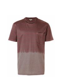Camiseta con cuello circular de rayas horizontales en multicolor de Lanvin