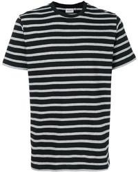 Camiseta con cuello circular de rayas horizontales en negro y blanco de Carhartt