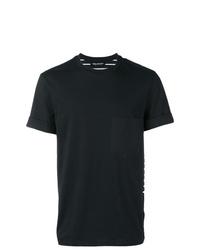 Camiseta con cuello circular de rayas horizontales en negro y blanco de Neil Barrett