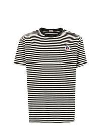 Camiseta con cuello circular de rayas horizontales en negro y blanco de OSKLEN