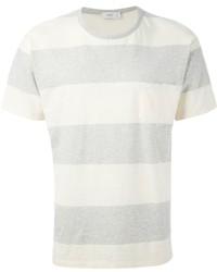 Camiseta con cuello circular de rayas horizontales gris de Closed