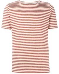 Camiseta con cuello circular de rayas horizontales roja de Eleventy