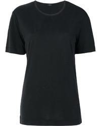 Camiseta con cuello circular de seda negra de Joseph