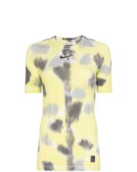 Camiseta con cuello circular efecto teñido anudado amarilla de 1017 Alyx 9Sm