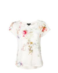 Camiseta con cuello circular efecto teñido anudado blanca de Avant Toi