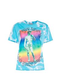 Camiseta con cuello circular efecto teñido anudado en turquesa de Ashley Williams