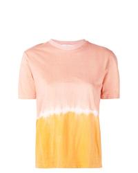 Camiseta con cuello circular efecto teñido anudado naranja de Tome