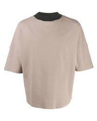 Camiseta con cuello circular en beige de Alchemy