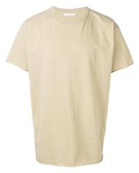 Camiseta con cuello circular en beige de John Elliott