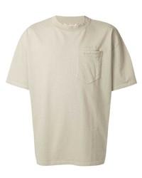 Camiseta con cuello circular en beige de MAISON KITSUNÉ