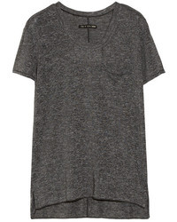 Camiseta con cuello circular en gris oscuro