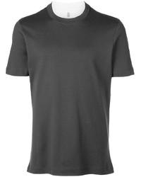 Camiseta con cuello circular en gris oscuro de Brunello Cucinelli