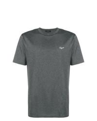 Camiseta con cuello circular en gris oscuro de Ermenegildo Zegna