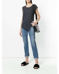 Camiseta con cuello circular en gris oscuro de Isabel Marant Etoile