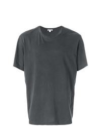 Camiseta con cuello circular en gris oscuro de James Perse