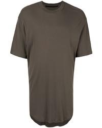 Camiseta con cuello circular en gris oscuro de Julius