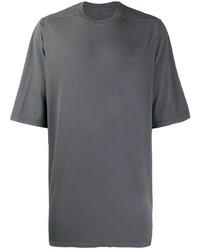 Camiseta con cuello circular en gris oscuro de Rick Owens DRKSHDW