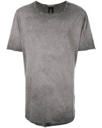 Camiseta con cuello circular en gris oscuro de Thom Krom