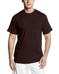 Camiseta con cuello circular en marrón oscuro de Spalding