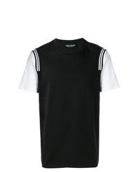 Camiseta con cuello circular en negro y blanco de Neil Barrett