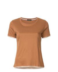 Camiseta con cuello circular en tabaco de Loveless