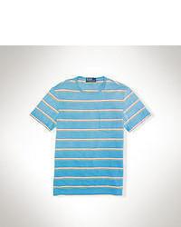 Camiseta con cuello circular en turquesa original 2203611