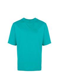 Camiseta con cuello circular en turquesa de Études
