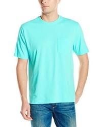 Camiseta con cuello circular en turquesa de Izod