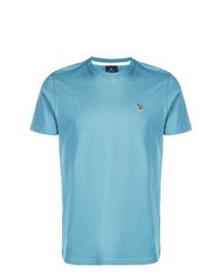 Camiseta con cuello circular en turquesa de Ps By Paul Smith
