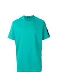 Camiseta con cuello circular en turquesa de The North Face