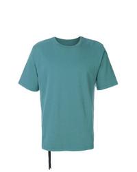 Camiseta con cuello circular en turquesa de Unravel Project