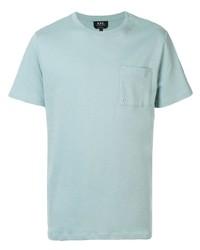 Camiseta con cuello circular en verde menta de A.P.C.
