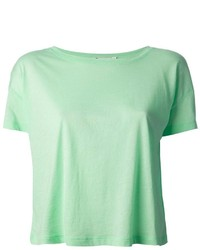 Camiseta con cuello circular en verde menta de Alexander Wang