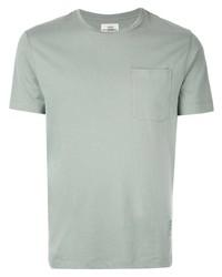 Camiseta con cuello circular en verde menta de Kent & Curwen