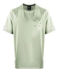 Camiseta con cuello circular en verde menta de Nike