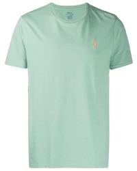 Camiseta con cuello circular en verde menta de Polo Ralph Lauren