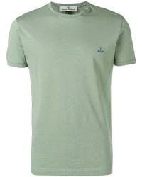 Camiseta con cuello circular en verde menta de Vivienne Westwood